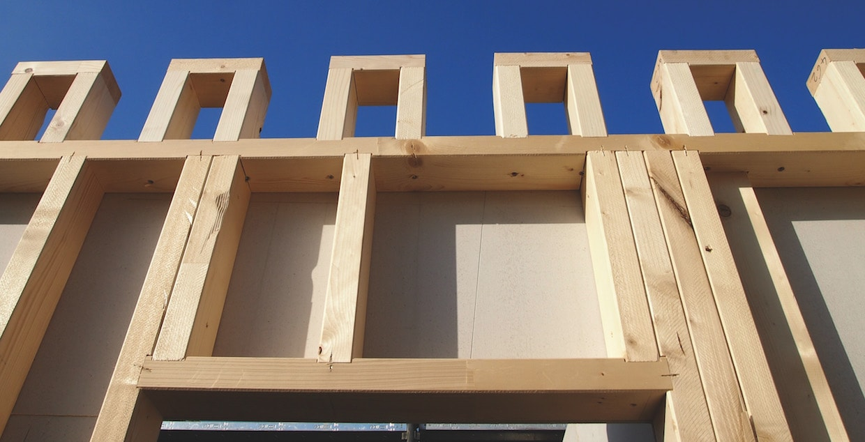 Case in legno telaio o x lam - Casa in legno su lastrico solare ...