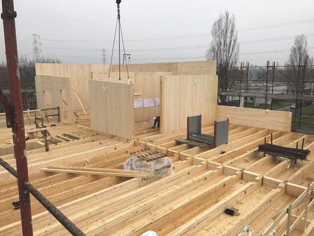 case in legno telaio o x lam