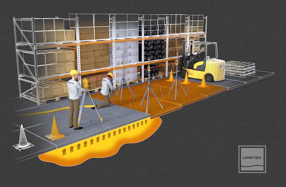 Floor Lift di Uretek: il pavimento si solleva con la resina
