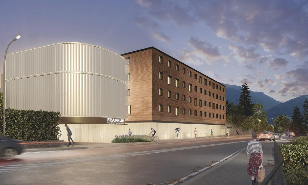 Il nuovo campus della Franklin University Switzerland, tra garden rooms e U-glass