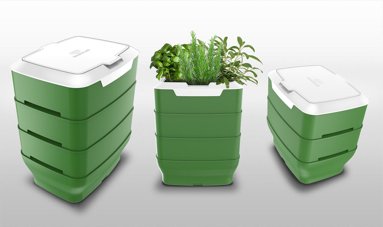 Wormy, la compostiera da casa in plastica di seconda generazione